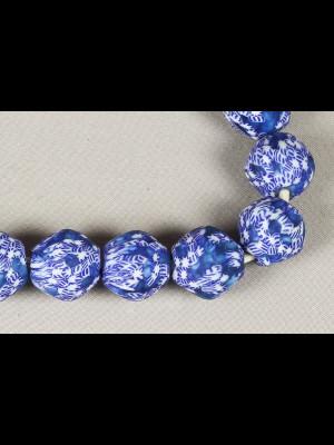 20 perles du Ghana en verre