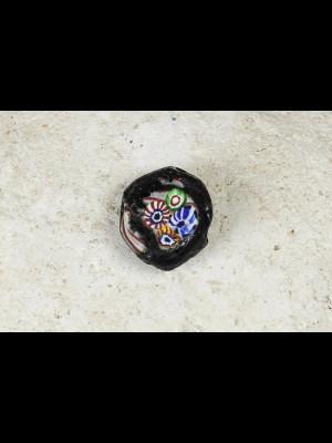 Perle millefiori ancienne plate