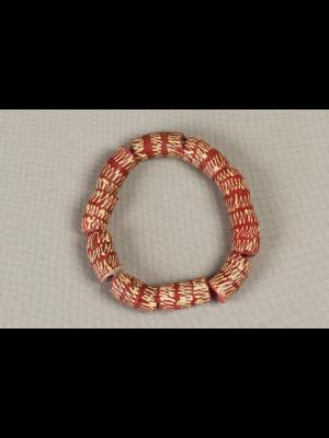 Bracelet en perles du Ghana en verre